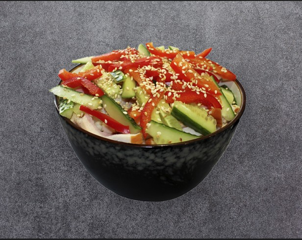 Harusame salad with chicken