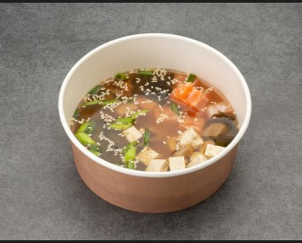 Misosoup with salmon