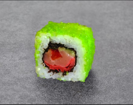 Spicy roll with salmon