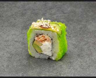 """""""Green dragon with eel"""" roll"""